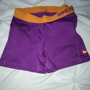 Nike Shorts - purple nike pros